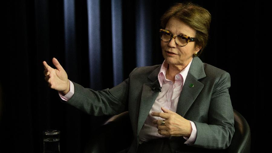 Tereza Cristina,  ministra da Agricultura, em entrevista para o UOL e a Folha, em Brasília  - Ian Cheibub/Folhapress