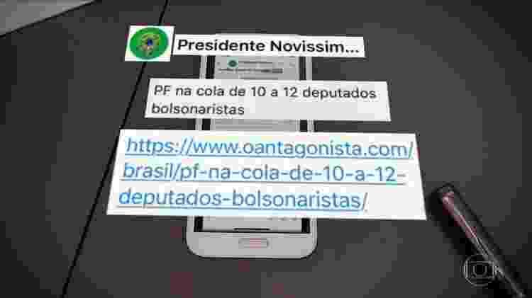Print Moro x Bolsonaro 1 - Rede Globo/Reprodução - Rede Globo/Reprodução