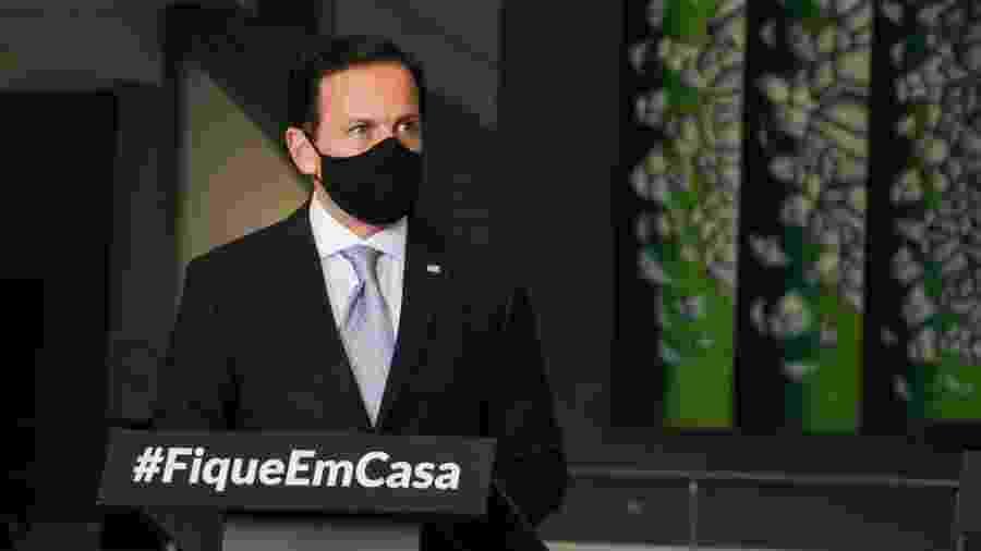 Governador de SP destacou apoio necessário a bares, restaurantes e setores de alimentação - ROGÉRIO GALASSE/FUTURA PRESS/FUTURA PRESS/ESTADÃO CONTEÚDO