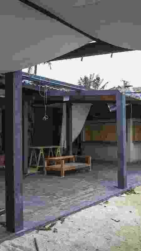 Restaurante ficou danificado após passagem de ciclone bomba - Anderson Coelho/Folhapress - Anderson Coelho/Folhapress