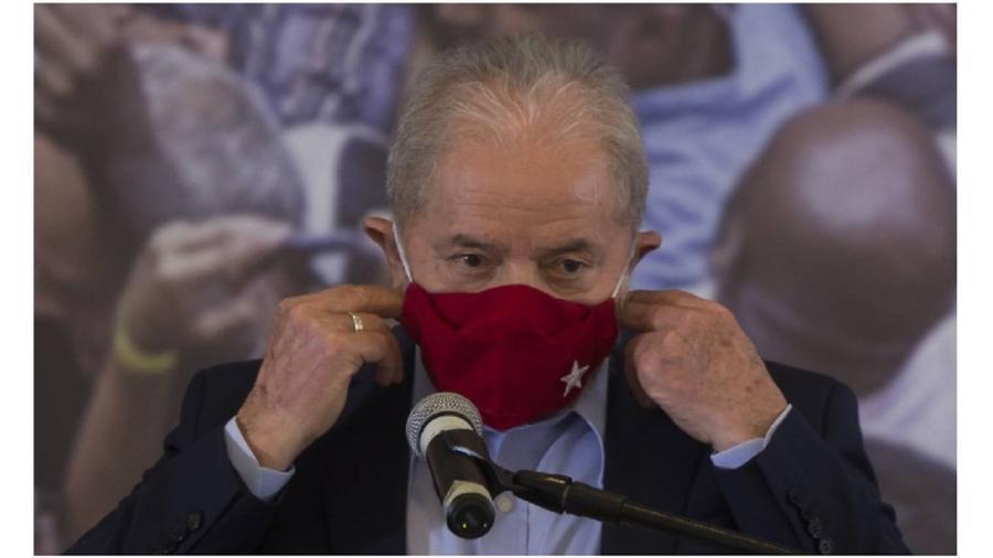 """Lula saiu em defesa do youtuber Filipe Neto, que foi intimado pela polícia após chamar o presidente Bolsonaro de """"genocida"""" -  Edilson Dantas / Agência O Globo"""
