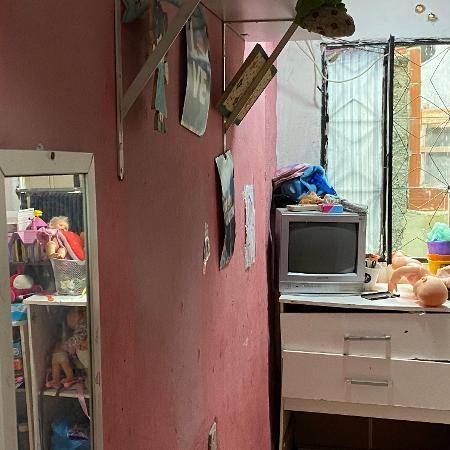 Quarto de menina de 9 anos onde polícia matou homem desarmado na favela do Jacarezinho, no Rio - Herculano Barreto Filho/UOL