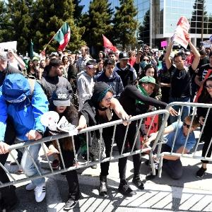 Protesto contra Trump na Califórnia