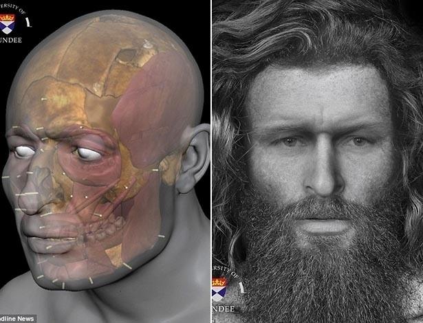 Homem Pict; esqueleto