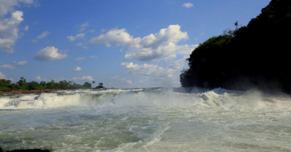 19.abr.2017 - A força da água no Parque Nacional Juruena