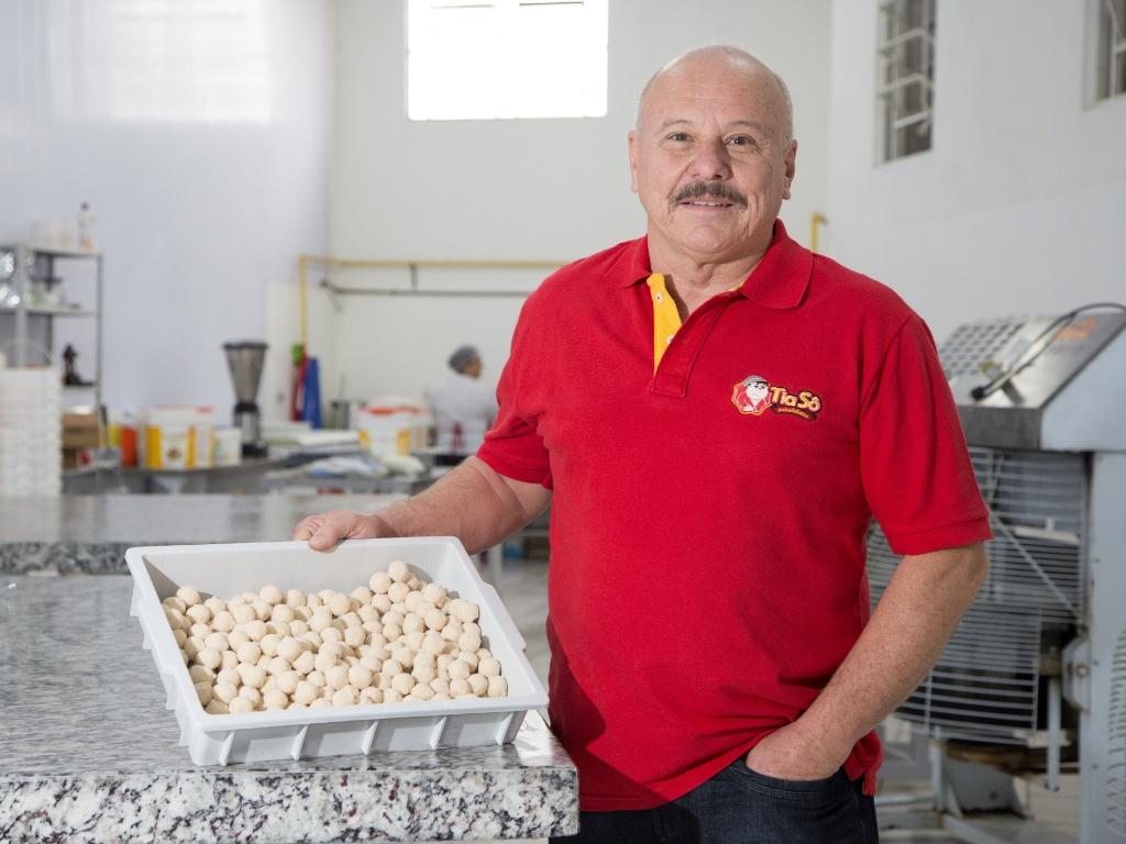 O empresário Luis Belentani é dono da franquia Tia Sô Minidelícias