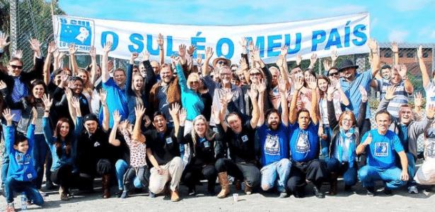 Apoiadores da separação da região sul do país - Divulgação