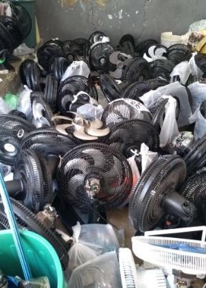 Na semana passada, uma inspeção encontrou apenas um celular e de dezenas de ventiladores