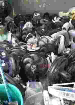 A vistoria terminou apenas com dezenas de ventiladores e um aparelho de celular apreendidos - Divulgação/Secretaria de Administração Penitenciária