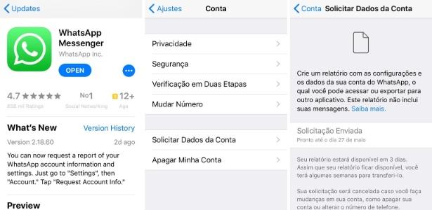 App entrega relatório de dados pessoais em três dias