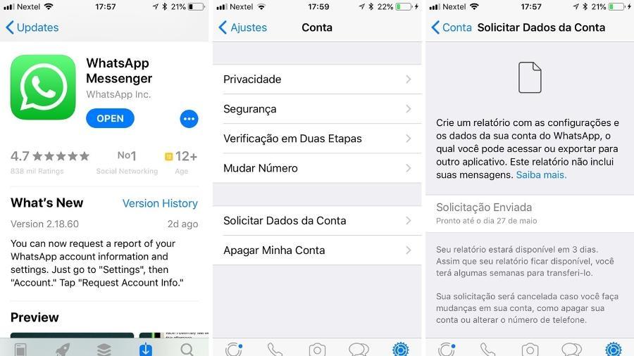 App entrega relatório de dados pessoais em três dias - Reprodução