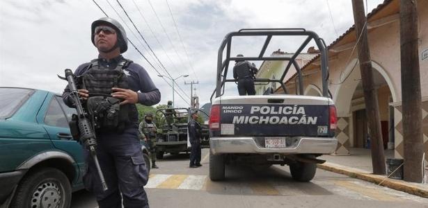 Operação prendeu 28 policiais na cidade de Ocampo, no México - Iván Villanueva/EFE
