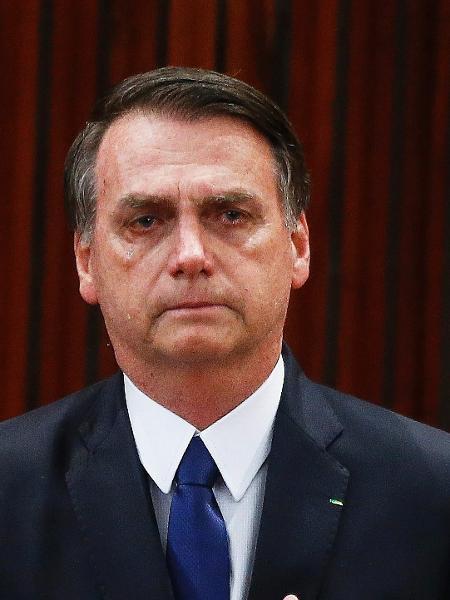 O presidente eleito, Jair Bolsonaro, durante a cerimônia da sua diplomação  - Dida Sampaio/Estadão Conteúdo