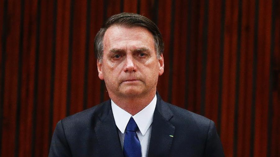 O presidente eleito, Jair Bolsonaro, durante a cerimônia de sua diplomação e do vice-presidente eleito Hamilton Mourão, no plenário do Tribunal Superior Eleitoral (TSE), em Brasília, nesta segunda-feira, 10 - Dida Sampaio/Estadão Conteúdo