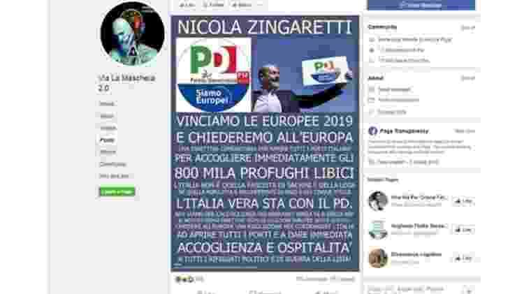 Grupos populistas na Itália têm espalhado desinformação nas eleições europeias - Facebook/Via La Maschera 2.0
