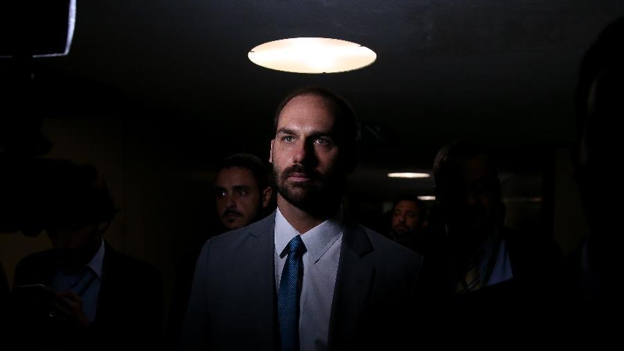 O deputado federal Eduardo Bolsonaro (PSL), filho do presidente Jair Bolsonaro (PSL) - Pedro Ladeira/Folhapress