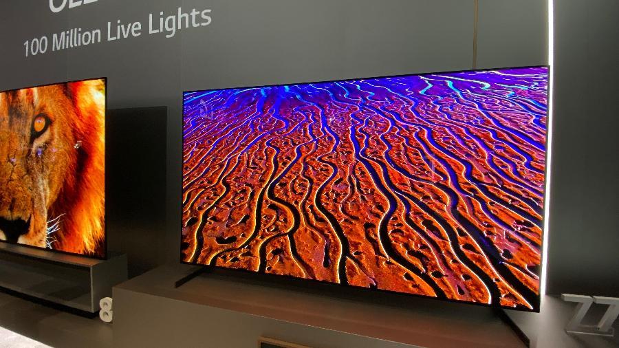 TV 8K da LG exibida na feira CES 2020, em Las Vegas - Gabriel Francisco Ribeiro/UOL