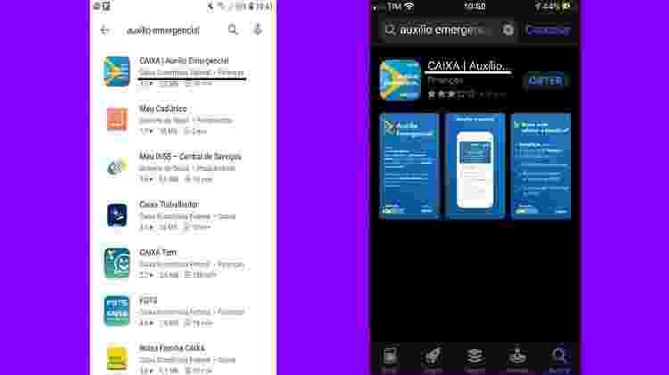 Aplicativo na busca na Play Store e App Store - Reprodução