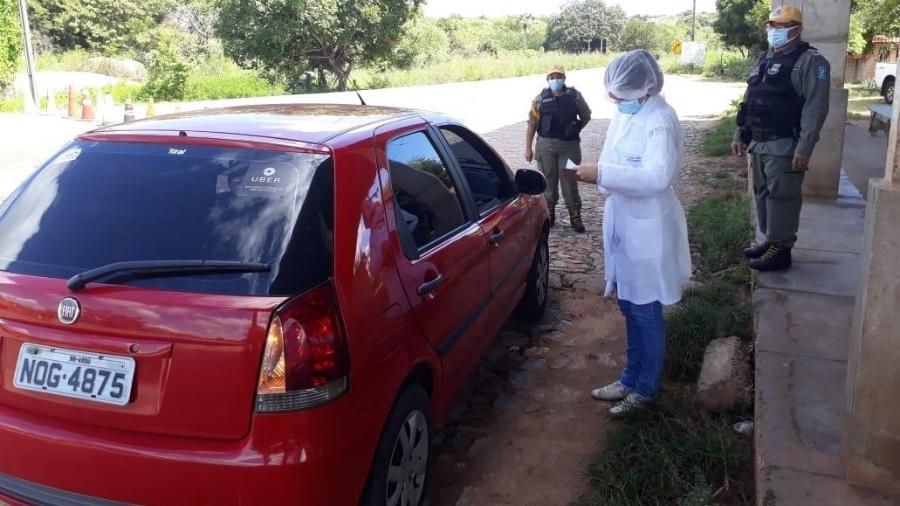 Governo estadual implantou barreiras sanitárias nas divisas do Piauí, para examinar quem chega de outros estados - Secretaria de Saúde do Piauí / Divulgação