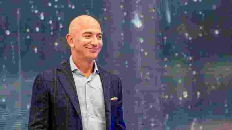25.set.2019 - Jeff Bezos, da Amazon, bate o recorde de homem mais rico do mundo - Andrej Sokolow/picture alliance via Getty Images
