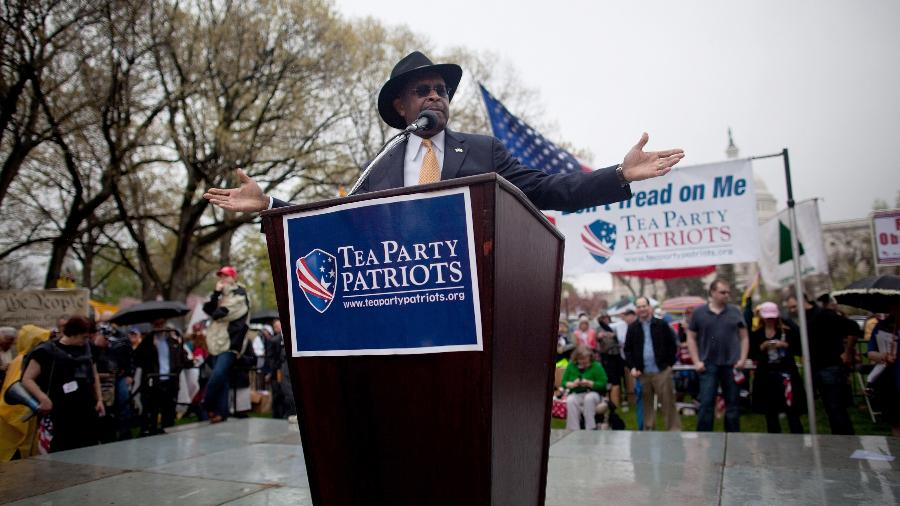 Herman Cain era ativista do Tea Party e membro do Partido Republicano - Allison Shelley/Getty Images