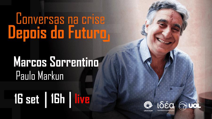 Marcos Sorrentino no Conversas na Crise (16/09/20) -  Arte/IdEA-Unicamp