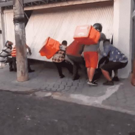 motoboys - Reprodução - Reprodução