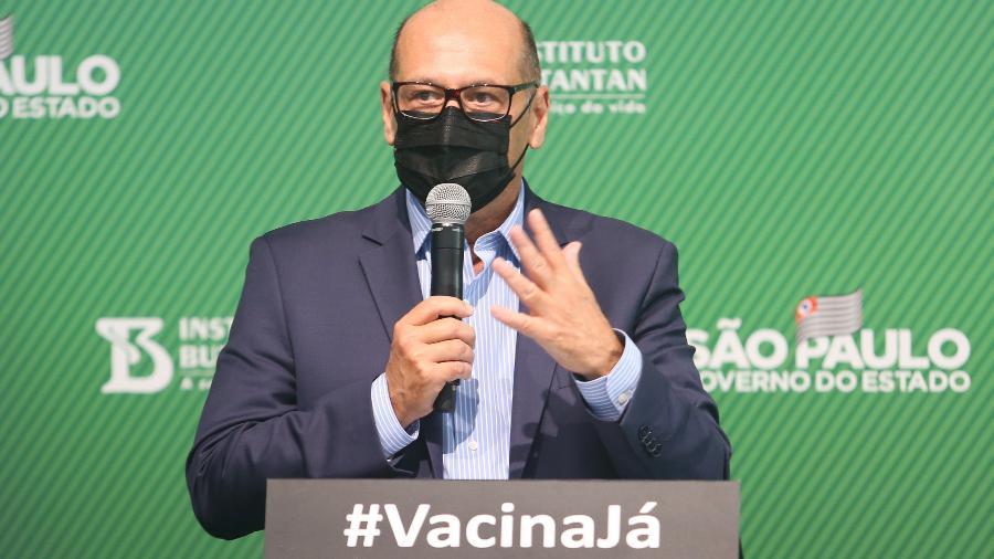 Dimas Covas, diretor do Instituto Butantan, lamentou o comportamento negacionista  - Marcelo D. Sants/Framephoto/Estadão Conteúdo