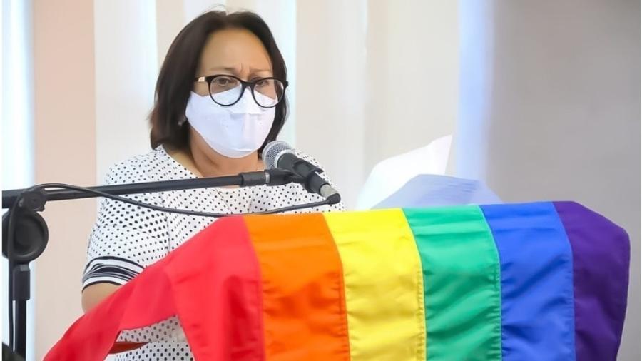 """Governadora do RN disse que em sua vida """"nunca existiram armários"""" e que sabe """"o que é a dor da discriminação e do preconceito"""" - Reprodução: Raiane Miranda/ Governo do RN"""