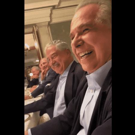 Roberto D'Ávila em jantar com o ex-presidente Temer - Reprodução - Reprodução
