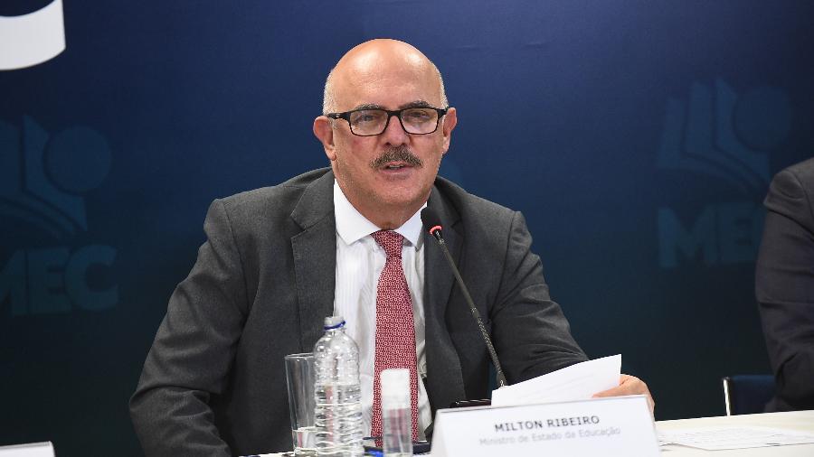 Ministro da Educação, Milton Ribeiro, participa de lançamento do programa Educação e Família - Luis Fortes/MEC