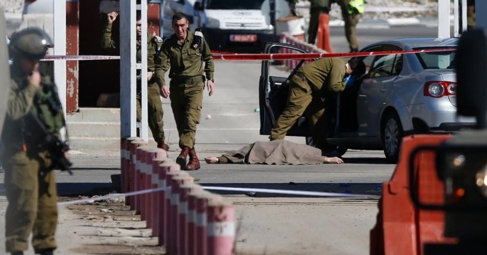 31.jan.2016 - Um palestino foi morto a tiros neste domingo (31) pelas forças de segurança de Israel após balear e ferir três cidadãos israelenses, deixando dois deles em estado grave, em uma região próxima ao assentamento judaico de Beit El, na Cisjordânia