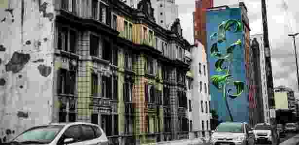 23.fev.2016 - Grafite na região do Elevado Costa e Silva, o Minhocão, em São Paulo - Lucas Lima/UOL - Lucas Lima/UOL