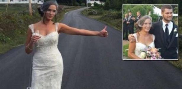 A carona para a noiva e as madrinhas deu certo. Agora, quem anda sem estepe, gente?