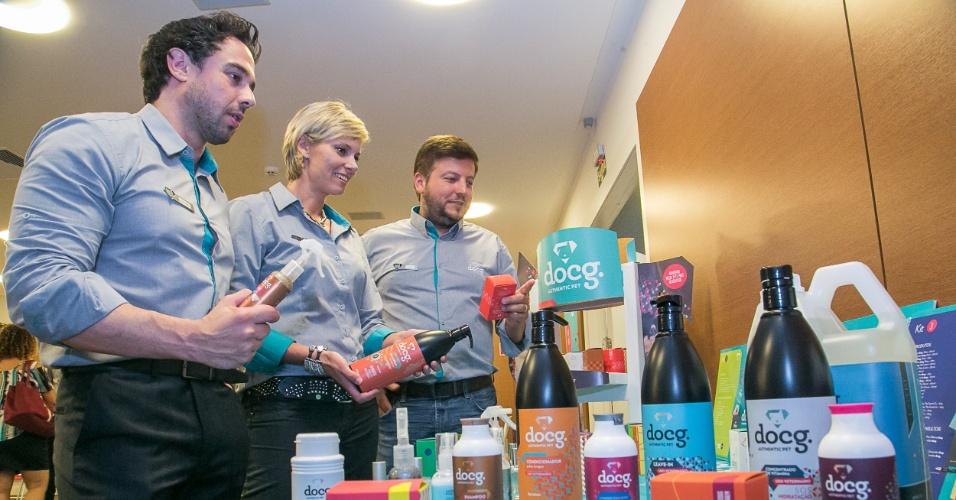 Os empresários Sandra Schuster, Flávio Pigatto e Juliano Cortes da docg.