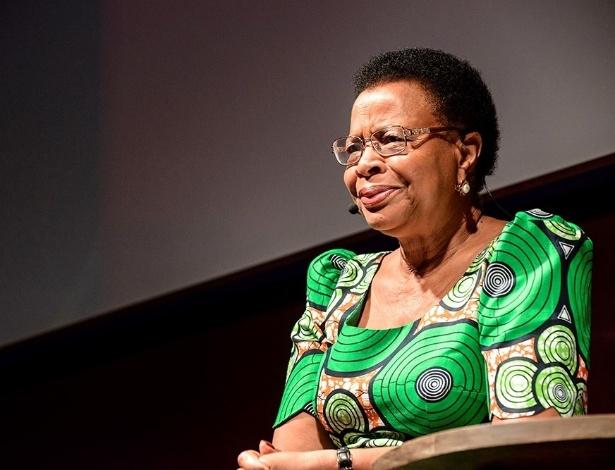 A moçambicana Graça Machel, ativista de direitos humanos e viúva de Nelson Mandela