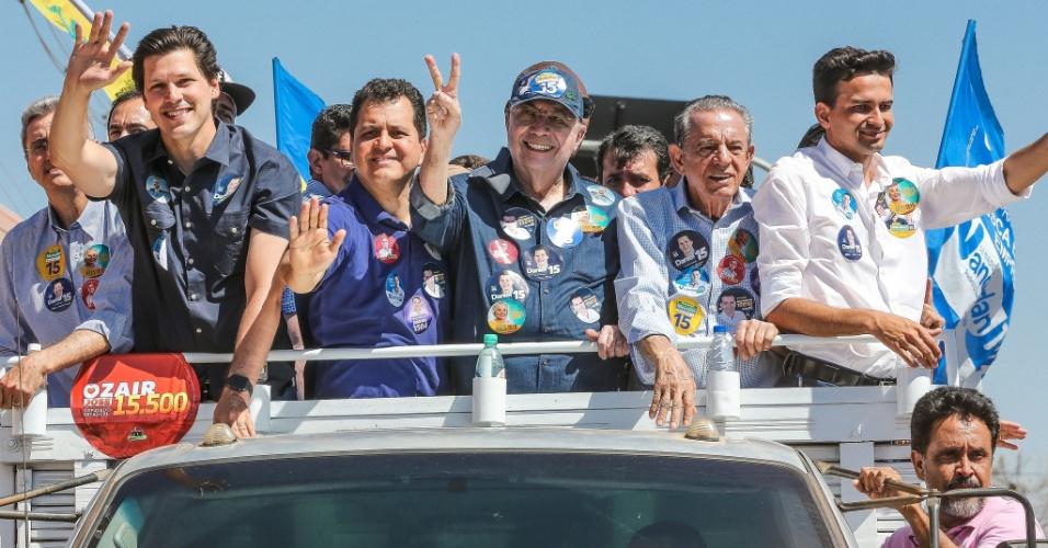 8.set.2018 - Henrique Meirelles (MDB) faz carreata em Aparecida de Goiânia (GO)