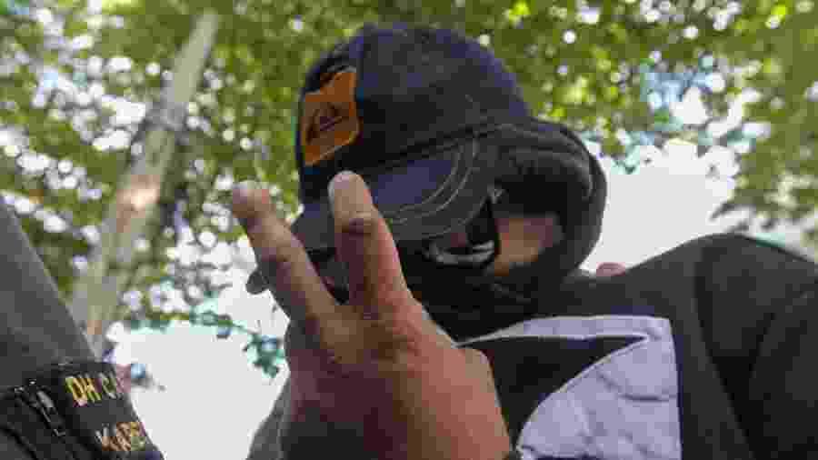 31.mai.2019 - Rodrigo Jorge Ferreira, vulgo Ferreirinha, preso durante a Operação Entourage - ARMANDO PAIVA/AGÊNCIA O DIA/ESTADÃO CONTEÚDO