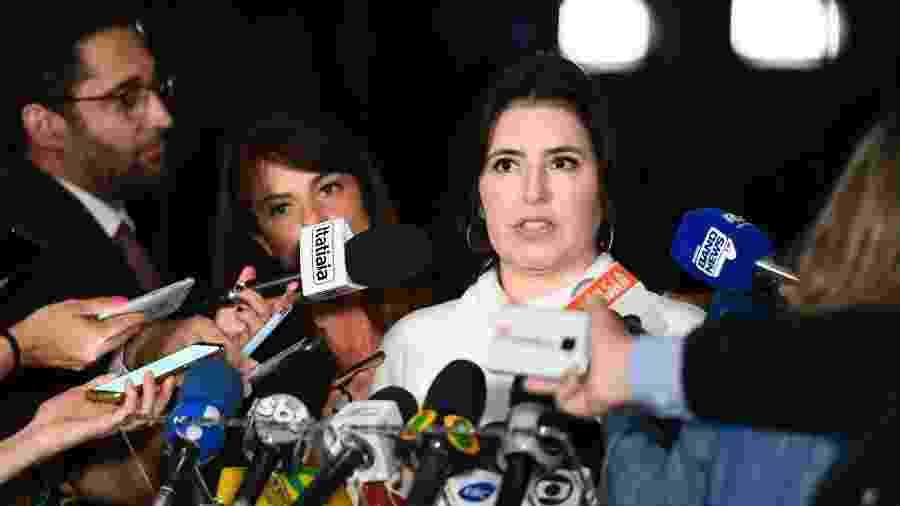Senadora Simone Tebet (MDB-RS) concede entrevista - Marcos Oliveira/Agência Senado