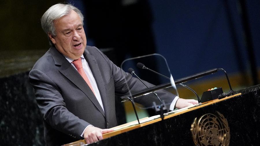 24.set.2019 - O secretário-geral da ONU, António Guterres, durante abertura da 74ª Assembleia Geral da ONU, em Nova York - Carlo Allegri/Reuters