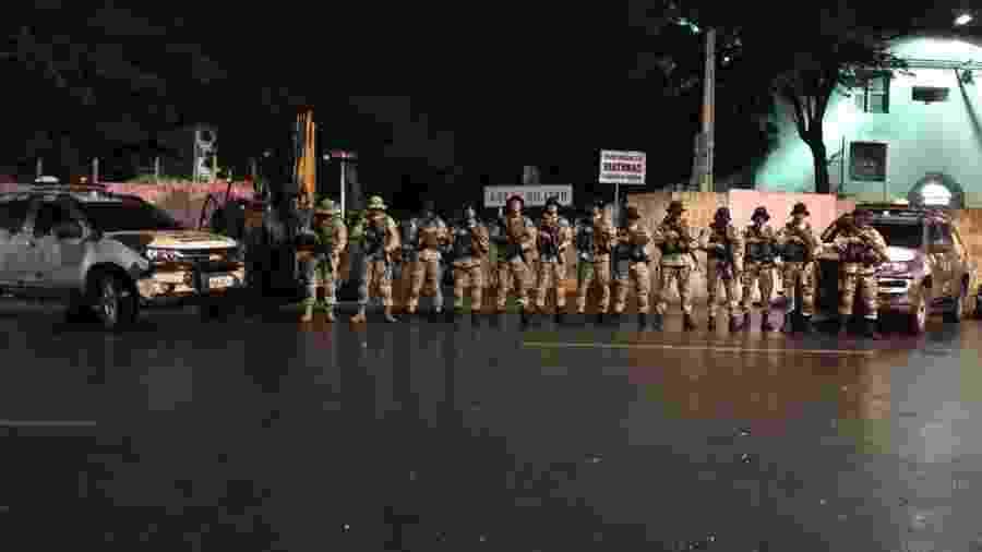 Equipe do Choque ocupa 3º Batalhão de Polícia Militar, em Sobral, no Ceará - Divulgação/PCCE