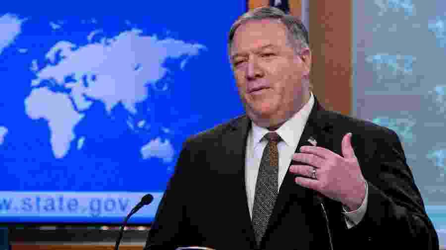 Secretário de Estado norte-americano, Mike Pompeo - POOL New