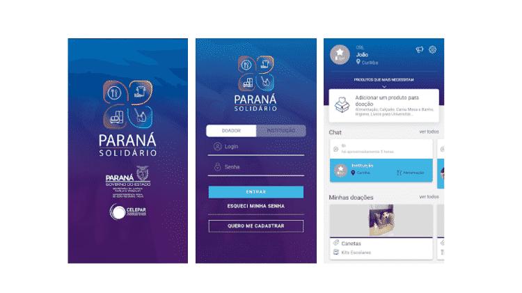 App Paraná Solidário - Divulgação - Divulgação