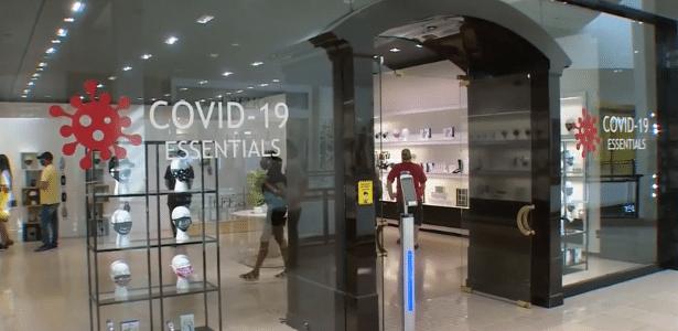 Loja vende itens para enfrentar a pandemia em Miami: Covid-19 Essentials