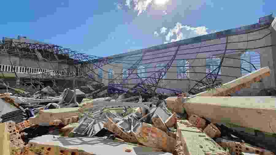 Igreja Assembleia de Deus em Garuva (SC) totalmente destruída após ciclone-bomba - Divulgação/Assembleia de Deus Garuva