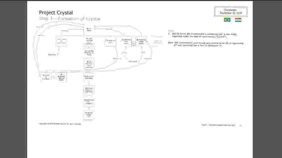 Organograma da JBS no Projeto Crystal - Reprodução