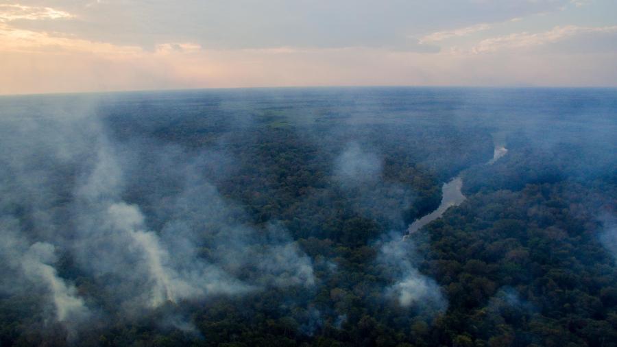 Entre janeiro e agosto, foram registrados pelos satélites do Inpe um total de 10.153 focos de incêndio no Pantanal - Chico Ferreira/Futura Press/Estadão Conteúdo