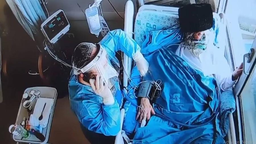 Internado em hospital, pai acompanha casamento de filho em Israel - Reprodução/Redes sociais