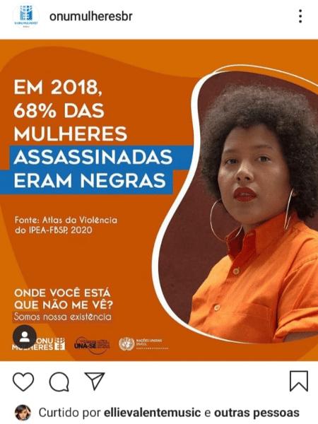 A maquiadora paraense Amanda Pris, 29 anos, diz que não deu permissão para a ONU Brasil usar sua foto - Reprodução