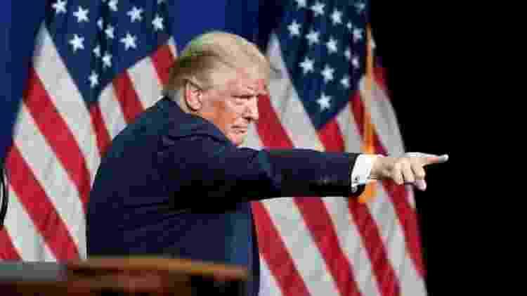 Como estratégia eleitoral, Trump tentou atribuir o aumento de crimes a políticas falhas de governantes do Partido Democrata - Reuters - Reuters